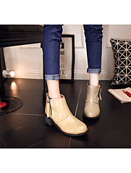 Femme-Décontracté--Gros Talon Block Heel-Bottes d'Equitation-Bottes-Polyuréthane