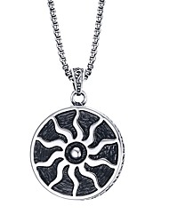 Men's Fashion Simple Personality  Sun Pendant High Polished Stainless Steel Pendant Strands(1Pc)