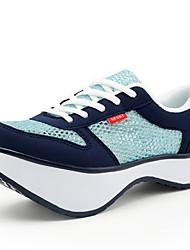 chaussures de sport printemps / été des femmes / tomber coins / creepers tulle / similicuir sportif / casual plateforme à lacets
