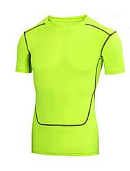 Esportivo Camisa para Ciclismo Homens Manga Curta Moto Respirável / Secagem Rápida / Confortável Blusas Nailom / Náilon Chinês Clássico