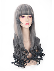 ombre perruque lolita gris foncé mode verte nouveau style cosplay parti populaire perruque synthétique résistant à la chaleur