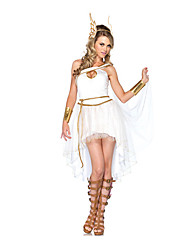 Costumes Movie & TV Theme Costumes Halloween White Solid Terylene Dress / More Accessories