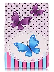 Pour Portefeuille / Porte Carte Coque Coque Intégrale Coque Papillon Dur Cuir PU Apple iPad Mini 4 / iPad Mini 3/2/1