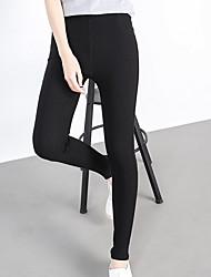 Pantalon Aux femmes Slim simple / Actif Polyester Elastique