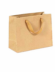 bolsas de papel kraft especificaciones horizontales 22 * 10 * 18 cm 10 empaquetados para la venta