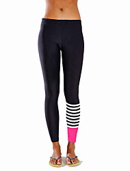 Women's Color Block Black Skinny Pants,Active
