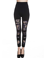 Women Shredded Legging,Polyester