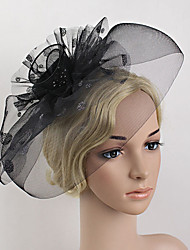 Women's Feather / Net Headpiece-Wedding / Special Occasion Party Hat Fascinators 1 Piece