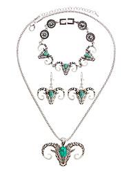 Schmuck Halsketten / Ohrringe / Armband Halskette / Armband / Halskette / Ohrringe Böhmen-Art / Stil Alltag / Normal 1 Set Damen Hellgrün