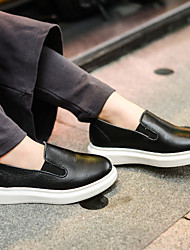 Unisex Loafers & Slip-Ons Spring / Fall Closed Toe Leather Casual Flat Heel Others Black / White Others