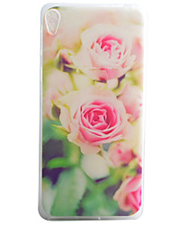 Pink Flowers Pattern Material TPU Phone Case For Sony Xperia E5 XA