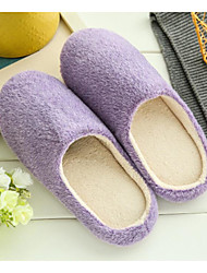 Unisex Slippers & Flip-Flops Spring / Fall / Winter Comfort Nappa Leather / Customized Materials Casual Flat Heel