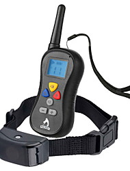 Dog Bark Collar / Dog Training Collars Anti Bark Waterproof 300M Remote Control LCD Display Shock/Vibration Solid Black