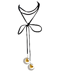 Femme Collier court /Ras-du-cou Pendentif de collier Pendentif Lune Alliage Mode Personnalisé Couleur Assortie Bijoux PourQuotidien