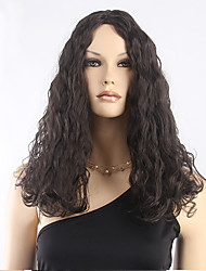 Top Quality Dark Brown Curly Wig Middle Long Synthetic Wigs Low Price Hot Sale.
