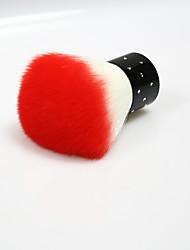 Byfunme  Mosaic Rhinestone Wool Brush Orange  /Powder Brush /Blush Brush 2way