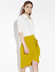 c + impressionner solide skirtssophisticated genou jaune des femmes