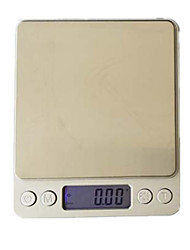 High-Precision Kitchen Scale (Note 4 Units English 3kg / 0.1g  Two Trays)