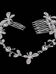 Mujer Perla Diamantes Sintéticos Aleación Celada-Boda Ocasión especial Casual Tiaras Bandas de cabeza 1 Pieza