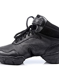 Damen-Sneaker-Outddor Lässig-Leder-Flacher AbsatzSchwarz
