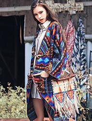 Aporia.As Women's Shirt Collar Long Sleeve Wool & Blends Blue-MZ14017