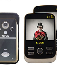 KiVOS KDB302 Wireless Home Video Intercom Doorbell Anti Tamper Alarm Camera Lock