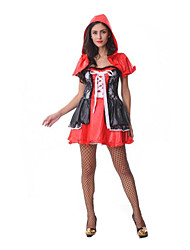 Women's  Red Hooded Dress Cosplay Cpstume