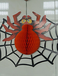 3PCS Halloween spider ornaments Non Woven Fabric Funny Big Spider Hat Cap Door Window Hang Decorations Accessories