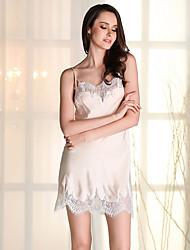 Girl & Nice® Feminino Chifon Lingerie com Ligas-D5123