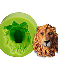 Lions Head Silicone Mold Cake Decoration Baking Sugarcraft Tools Polymer Clay Fimo Fondant Making Color Random