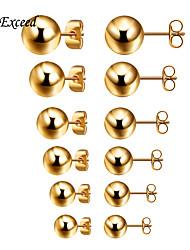 Ohrring Schmuck 1 Paar Modisch Hochzeit / Party / Alltag / Normal Gold / versilbert Damen / Herren Goldfarben / Silber