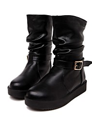 Women's Boots Fall / Winter Flats PU Dress / Casual Flat Heel Others Black / White Others