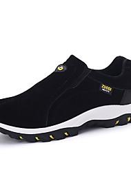 Men's Sneakers Fall Winter PU Outdoor Flat Heel Black Gray Khaki Hiking