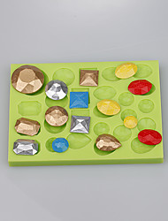 Multi-shape gem silicone mold for fondant cake chocolate fimo clay tools