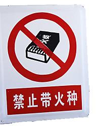 signes signes avant-coureurs d'avertissement personnalisés directe d'usine interdiction de carte rapide avec un danger d'incendie