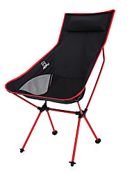 Bump with pillow outdoor folding chair chair ultra light Aluminum Alloy moon leisure chair backrest chair for fishing