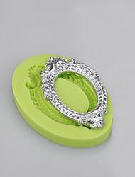 Circle cake decorating silicone mold mirror shape cupcake fondant cake mold
