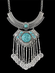 Necklace Statement Necklaces Jewelry Party / Daily / Casual Fashion / Vintage / Bohemia Style Alloy Silver 1pc Gift