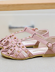 Girl's Sandals Summer Sandals / Open Toe  Casual Flat Heel Rivet Pink / Beige Others
