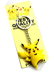 Cosplay Accessories Inspired by Pocket Little Monster PIKA PIKA Anime Cosplay Accessories Keychain Yellow Blue Orange Green Pink Cyan PVC