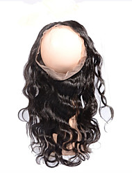 New Style Body Wave 360 Lace Band Frontals Back with elastic Lace Frontal Closure Natural Hairline with Baby Hair