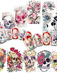 Etiqueta engomada del clavo del arte del clavo Diseño de uñas etiqueta engomada del arte del maquillaje Adhesivos de transferencia de agua