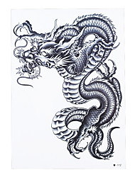 1pc Waterproof Temporary Tattoo for Women Men Body Back Art Chinese Dragon Pattern Design Tattoo Sticker HB-227