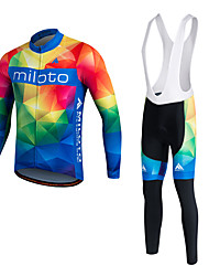 MILOTO Cycling Jersey Cycling Bib Tights  Pants Trousers MTB Tracksuit Jersey Tops Bike Clothing Uniform