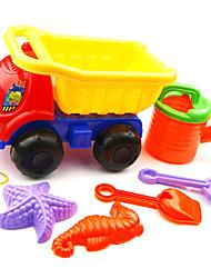 6-ти штук песчаный пляж игрушки набор с грузовиком, водяной бак, 2 ручных инструментов и 2-х моделей
