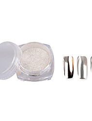 2g/Box Colorful Nail Glitter Powder Shinning Mirror Eye Shadow Makeup Powder Dust Nail Art DIY Chrome Pigment Glitters