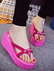 Feminino-Chinelos e flip-flopsRasteiro Creepers-Preto Rosa-PVC-Casual