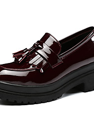 Women's Loafers & Slip-Ons Spring / Fall Closed Toe Microfibre Casual Low Heel Others Black / Burgundy Others