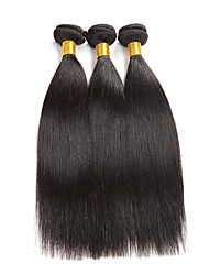 3 Bundles/150g Indian Virgin Hair 3 Bundles Silk Straight Human Hair Weave Indian Virgin Hair Can be Dyed