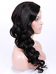 14-18inch Braizlian virgin remy human hair big wave glueless lace front wigs for African Americans